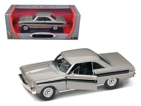 1964 Ford Falcon Grey 1/18 Diecast Model Car by Road Signature