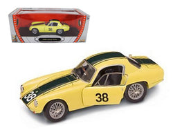 1960 Lotus Elite #38 Yellow 1/18 Diecast Model Car by Road Signature