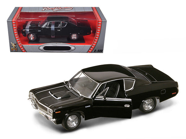 1970 AMC Rebel Black 1/18 Diecast Model Car by Road Signature