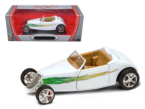 1933 Ford Roadster White 1/18 Diecast Model Car by Road Signature