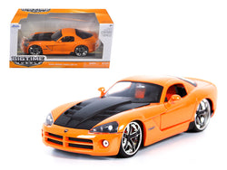 2008 Dodge Viper SRT10 Orange 1/24 Diecast Model Car by Jada