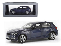 BMW F20 1 Series Blue 1/18 Diecast Model Car by Paragon