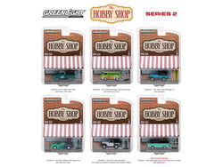 "The ""Hobby Shop"" Series #2 (6 Car Set) 1/64 Diecast Models by Greenlight"
