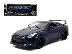 "Brian's Nissan GTR R35 Blue ""Fast & Furious 7"" Movie 1/18 Diecast Model Car by Jada"