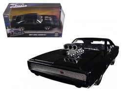 "Dom's 1970 Dodge Charger R/T Black ""Fast & Furious 7"" Movie 1/24 Diecast Model Car by Jada"