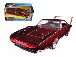"1969 Dodge Charger Daytona Red ""Fast & Furious 7"" Movie 1/24 Diecast Model Car by Jada"