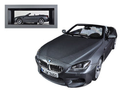 BMW M6 F12M Convertible Space Grey 1/18 Diecast Model Car by Paragon