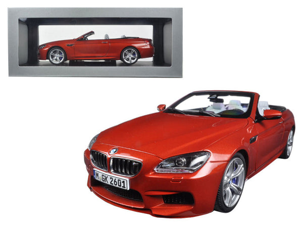 BMW M6 F12M Convertible Sakhir Orange 1/18 Diecast Model Car by Paragon