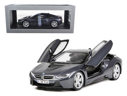 BMW i8 Sophisto Grey Metallic and Frozen Grey 1/18 Diecast Model Car by Paragon