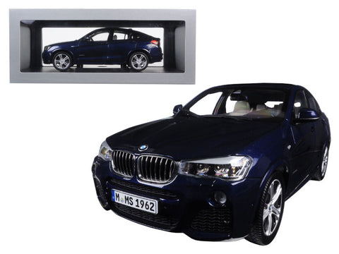 BMW X4 F26 Imperial Blue 1/18 Diecast Model Car by Paragon