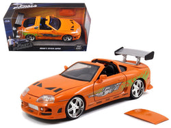"Brian's Toyota Supra Orange ""Fast & Furious"" Movie 1/24 Diecast Model Car by Jada"