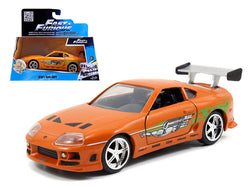 "Brian's Toyota Supra Orange ""Fast & Furious"" Movie 1/32 Diecast Model Car by Jada"