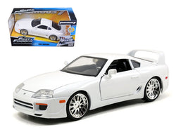 "Brian's Toyota Supra White ""Fast & Furious"" Movie 1/24 Diecast Model Car by Jada"