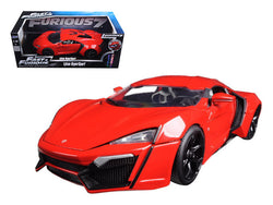 "Lykan Hypersport Red ""Fast & Furious 7"" Movie 1/18 Diecast Model Car by Jada"