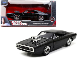 "Dom\'s Dodge Charger R/T Black ""The Fast and the Furious"" (2001) Movie 1/24 Diecast Model Car by Jada"