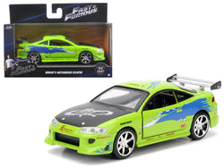 "Brian's 1995 Mitsubishi Eclipse Green ""Fast & Furious"" Movie 1/32 Diecast Model Car by Jada"