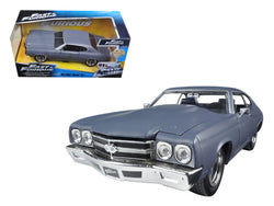 "Dom's Chevrolet Chevelle SS Matte Gray ""Fast & Furious"" Movie 1/24 Diecast Model Car by Jada"