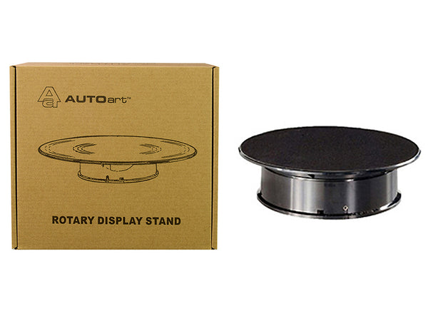 Rotary Display Turntable Stand Small 8 Inches with Black Top for 1/64, 1/43, 1/32, 1/24 Scale Models by Autoart