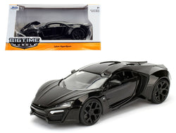 Lykan Hypersport Glossy Black 1/24 Diecast Model Car by Jada