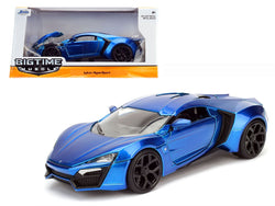 Lykan Hypersport Blue 1/24 Diecast Model Car by Jada