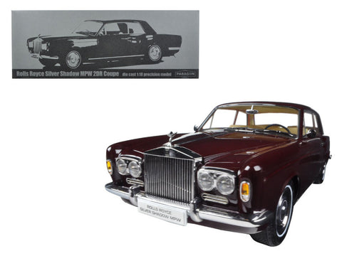 1968 Rolls Royce Silver Shadow Burgundy 1/18 Diecast Model Car by Paragon