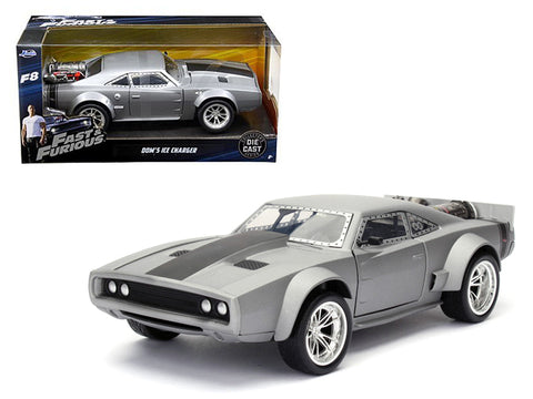 "Dom's Ice Dodge Charger ""Fast & Furious"" F8 Movie 1/24 Diecast Model Car by Jada"