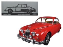1962 Jaguar Mark 2 3.8 Carmen Red Left Hand Drive 1/18 Diecast Model Car by Paragon