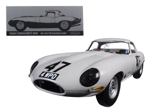 "1963 Jaguar Lightweight E-Type #47 ""Coombs 4 WPD"" 1/18 Diecast Model Car by Paragon"