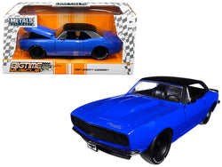"1967 Chevrolet Camaro Blue ""Big Time Muscle"" 1/24 Diecast Model Car by Jada"