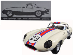 Jaguar Lightweight E-Type Qvale Sebring #23 White 1/18 Diecast Model Car by Paragon
