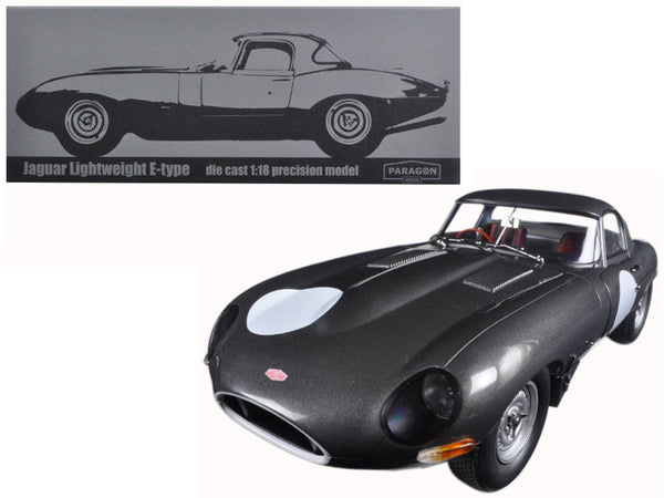 Jaguar Lightweight E-Type Continuation Gunmetal Grey 1/18 Diecast Model Car by Paragon