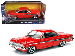 "Dom's Chevrolet Impala Red Fast & Furious F8 ""The Fate of the Furious"" Movie 1/24 Diecast Model Car by Jada"