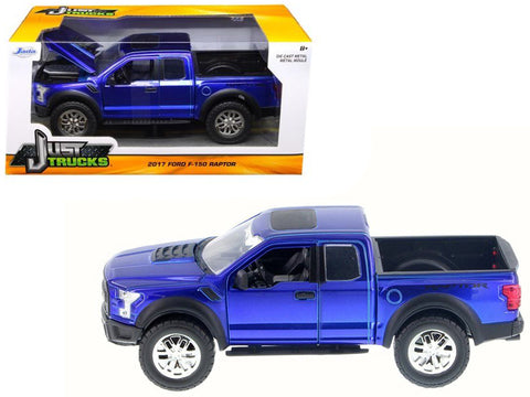 2017 Ford F-150 Raptor Pickup Truck Blue 1/24 Diecast Model by Jada