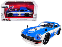 "1972 Datsun 240Z #53 Blue/White ""JDM Tuners"" 1/24 Diecast Model Car by Jada"
