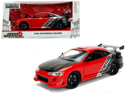 "1995 Mitsubishi Eclipse ""Bride"" Red ""JDM Tuners"" 1/24 Diecast Model Car by Jada"