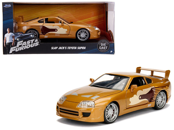 "Slap Jack's Toyota Supra Gold ""Fast & Furious"" Movie 1/24 Diecast Model Car by Jada"