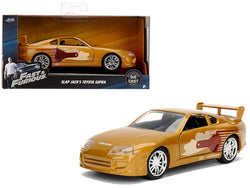 "Slap Jack's Toyota Supra Gold ""Fast & Furious"" Movie 1/32 Diecast Model Car by Jada"