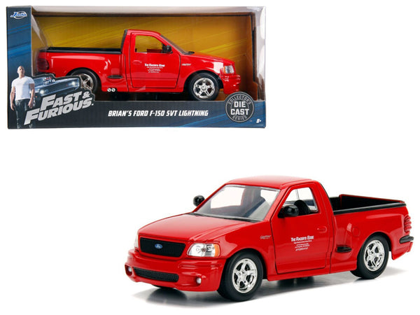 "Brian's Ford F-150 SVT Lightning Pickup Truck Red ""Fast & Furious"" Movie 1/24 Diecast Model by Jada"
