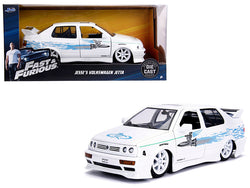 "Jesse's Volkswagen Jetta White ""Fast & Furious"" Movie 1/24 Diecast Model Car by Jada"