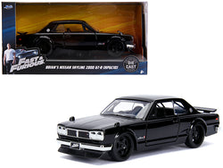 "Brian's Nissan Skyline 2000 GT-R (KPGC10) Black ""Fast & Furious"" Movie 1/32 Diecast Model Car by Jada"