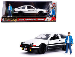 "Toyota Trueno (AE86) with Takumi Diecast Figure ""Initial D First Stage"" (1998) TV Series ""Hollywood Rides"" Series 1/24 Diecast Model Car by Jada"
