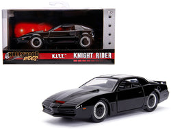 "1982 Pontiac Firebird Trans Am Black K.I.T.T. ""Knight Rider"" (1982) TV Series ""Hollywood Rides"" Series 1/32 Diecast Model Car by Jada"