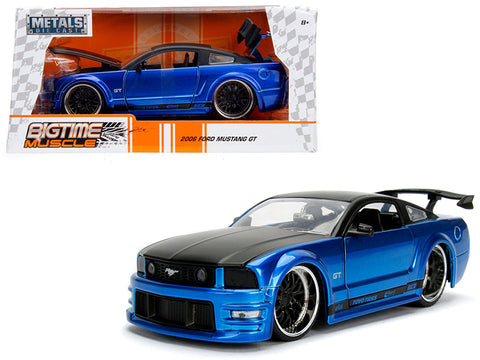2006 Ford Mustang GT Blue with Black Top 1/24 Diecast Model Car by Jada