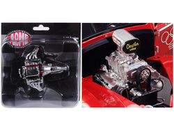 "Engine and Transmission Replica Blown 426 Hemi Drag from a ""1941 Gasser"" 1/18 Diecast by Acme"
