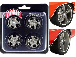 "Street Fighter Torque Thrust Wheel and Tire Set (4 Piece Set) from ""1970 Pontiac GTO Street Fighter - The Prosecutor"" 1/18 by ACME"