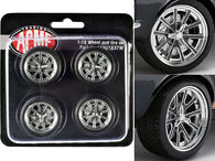 "Street Fighter 18"" G-Force Wheel and Tire Set (4 Piece Set) from a ""1967 Ford Mustang Shelby GT500"" 1/18 Diecast by Acme"