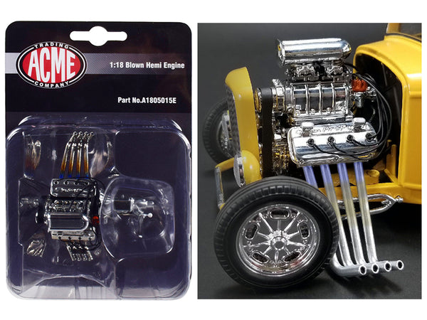 "Engine and Transmission Blown Hemi Replica from a 1932 Ford ""3 Window"" 1/18 Model by Acme"