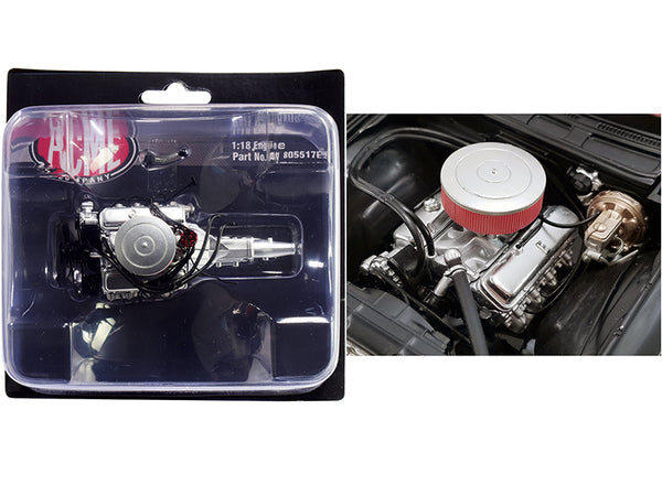 "454 Chevy Big Block Engine with 5 Speed Transmission Replica from a ""1970 Chevrolet Chevelle 454 SS Street Fighter -  G-Force"" 1/18 by ACME"