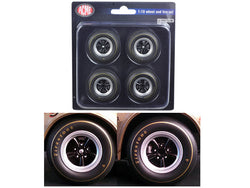 1967 Chevrolet Camaro Z/28 Race Wheels and Tires (Set of 4) 1/18 Diecast by Acme