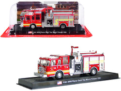 "2006 Pierce Dash Top Mount Pumper Fire Engine Red ""Wichita Fire Department"" (Kansas) 1/64 Diecast Model by Amercom"